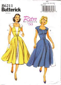 Butterick 6211 Misses' Dress and Belt