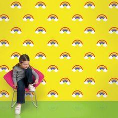 Bunte Tapeten für Kinderzimmer von Allison Krongard  - #Kinderzimmer, #KinderzimmerDeko, #Wandgestaltung