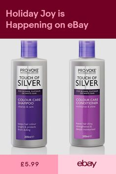 ProVoke Touch of Silver Colour Care Shampoo Conditioner 200ml -Blonde Hair  !! 219bccb053a7