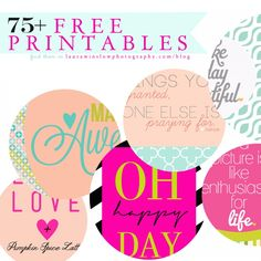 Free Printables Laura Winslow Photography 75 + Free Printables :: Memorable Words Monday // Quotes, Tags and Prints