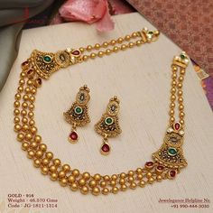 Gold 916 Premium Design Get in touch with us on Gold Jewelry Simple, Trendy Jewelry, Fashion Jewelry, Antique Jewellery Designs, Gold Jewellery Design, Antique Jewelry, Jewelry Patterns, Gold Necklace, Antique Necklace