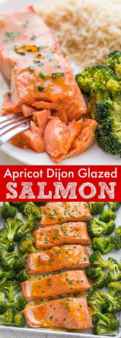 This Apricot Dijon Salmon and Broccoli is an easy, excellent one-pan salmon meal. The sweet and savory apricot glaze seals in the juices of the salmon making it moist and flaky. You will enjoy every bite of this apricot glazed salmon. Learn: What is the difference between wild caught and farmed salmon | natashaskitchen.com