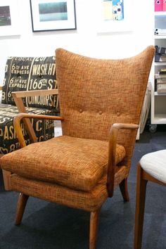 Perfect winged retro chair. Pure mid-century goodness.