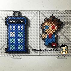 Doctor Who perler beads by  perlerbeadjake