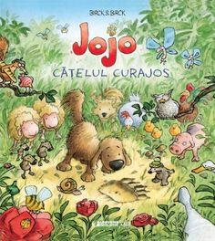 Coperta Jojo catelul curajos - Briks & Briks; Varsta: 2+; Jojo vrea sa devina caine ciobanesc – asta cand va fi mare. Pana atunci, e caine de paza îin gospodaria lui Marin. Astazi insa acolo este o harmalaie grozava, starnita de vizita unui urs. Fiecare animal cauta sa se adaposteasca pe unde poate. Numai Jojo nu incearcă sa se ascunda. Curajos, el pleaca in cautarea ursului. Deodata se trezeste singur-singurel in padure unde are parte de-o aventura. Teddy Bear, Books, Kids, Movies, Shopping, Children's Literature, Character, Young Children, Libros