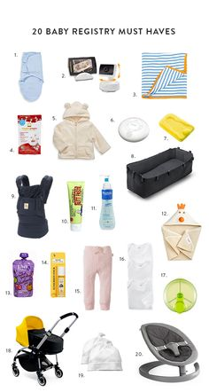 20 baby registry must haves with @crick