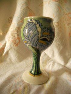Santa Barbara Ceramic Design Iris Goblet / Wine Glass Alvaro Suman [ AS 1979 ] Santa Barbara, Succulent Wall Art, Ceramic Design, Iris, Wine Glass, Pottery, Vase, Ceramics, Ebay