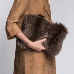 Racoon Fur Clutch