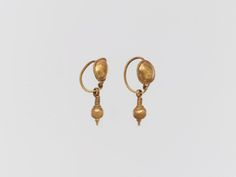 "met-greekroman-art:  "" Earring with pendant via Greek and Roman Art  Medium: Gold  The Cesnola Collection, Purchased by subscription, 1874–76 Metropolitan Museum of Art, New York, NY  http://www.metmuseum.org/art/collection/search/243155  """