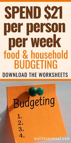 Money Saving Worksheets For Mom's Tight Budget. Looking for a money worksheets to help with food and household budgeting. Budget Binder, Monthly Budget, Budget Meals, Food Budget, Sample Budget, Monthly Expenses, Money Worksheets, Budgeting Worksheets, Budgeting 101