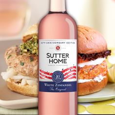 Grill and chill! Serve Sutter Home White Zinfandel with Lemon-Scented Salmon Burgers or Coconut Basil Chicken Burgers. These #BuildaBetterBurger recipes can be prepared in 25 minutes or less and pair wonderfully with the #OriginalWhiteZin.