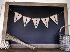 Light House Burlap Banner Beach Bunting Nautical Triangle Pennant Flag Summer Party Sign on Etsy by Sweet Thymes