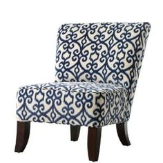 home decorators collection-kenter slipper chair My Living Room, Living Spaces, Patterned Chair, Take A Seat, Decoration, Home Accents, My Dream Home, Home Furniture, Bedroom Furniture