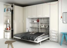 Cama de matrimonio plegable. http://www.aristamobiliario.es/68-camas-abatibles