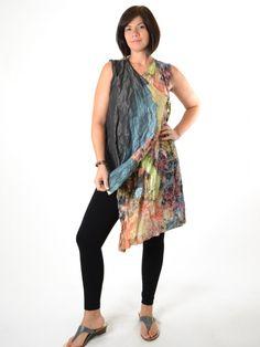 654fb33f520 Bryn Walker Floral Taffeta Zen Vest Lounge Pants, Tie Dye Skirt, Zen