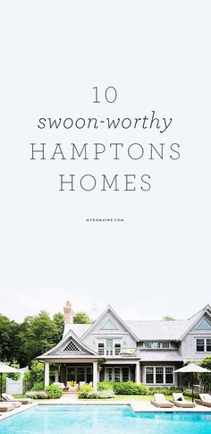 GORGEOUS homes in the Hamptons you need to witness Hamptons Style Homes, Hamptons Decor, The Hamptons, Coastal Style, Coastal Decor, Cosy Home, Coastal Homes, Coastal Cottage, Architecture
