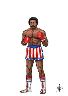 Rocky Series Characters illustrated by MGO 08 Rocky Balboa Movie, Rocky Film, Rocky Series, Apollo Creed, Silvester Stallone, Scary Art, Character Profile, Movie Poster Art, Cultura Pop
