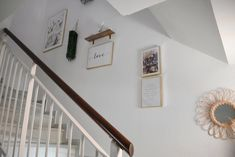 Staircase Wall Decor, Boho Chic Living Room, Poster Store, Painted Stairs, Stairways, Home Renovation, Decoration, Gallery Wall, New Homes