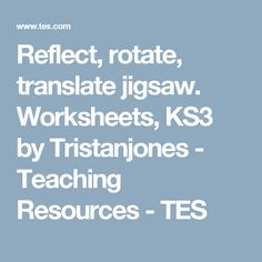 Worksheets, by Tristanjones - Teaching Resources - TES Teaching Resources, Worksheets, Reflection, Student, Words, Shape, Tes, Fit, Literacy Centers