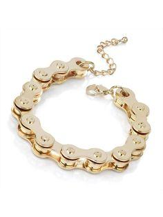 Gold Bike Chain Bracelet   Jewellery   Desire