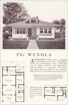 1922 Lewis Homes The Wynola Vintage House PlansVintage