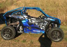 Polaris RZR 1000 Graphics Wrap Kit Pro Armor Door Inserts Decals 2500 Blue   eBay