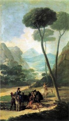 The Fall or The Accident - Francisco Goya, Romanticism