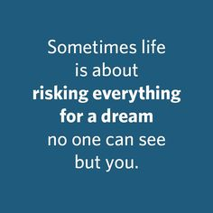 Are YOU taking a risk?