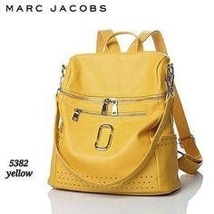 M J tas ransel multi fungsi [ Semi Premium ] Cek stock whatsapp 0812 9453 4848 Leather Backpack, Marc Jacobs, Backpacks, Yellow, Bags, Fashion, Handbags, Moda, Leather Book Bag