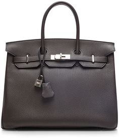 Hermes Black Birkin 35cm Chevre Leather Gold Hardware
