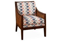 Windwood Accent Chair, Indigo/Melon
