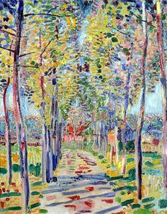 Jan Sluijters (Dutch 1881-1957) Boslaantje - Wooded Path (c.1909) oil on canvas 41.5 x 32.5cm.