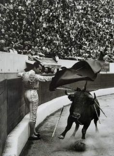 Jean Dieuzaide. Luis Miguel Dominguin, Toulouse, 1957.  Someday I want to see a bull fight live and in person.