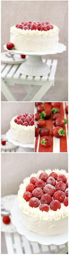 Call Me Cupcake - Sweet food & photography Strawberry Cakes, Strawberry Recipes, Strawberry Shortcake, Wedding Cakes With Cupcakes, Cupcake Cakes, Just Desserts, Delicious Desserts, Call Me Cupcake, Cake Recipes