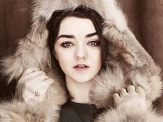 The stunning Maisie Williams aka Arya Stark. BEAUTIFUL picture!!