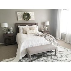 Love gray! Exactly what I want my room to look like!