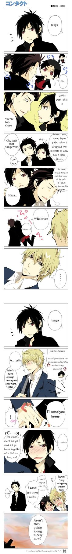 "Hahaha shizuo ""Stop stepping on my foot!!"""