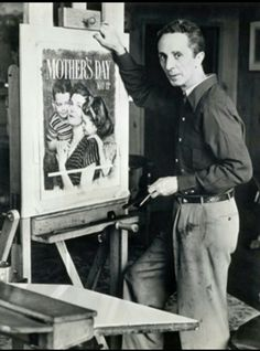 Norman Rockwell~ I never knew what the artist behind the painting looked like