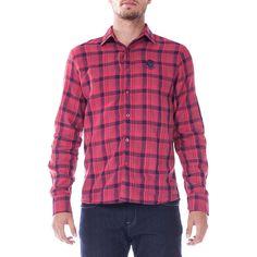 Camisa Masculina Opera Rock Xadrez Vermelha -Moda - Camisetas - Walmart.com