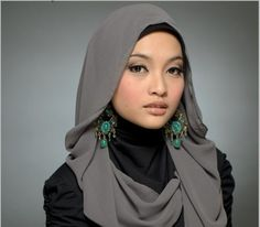 how to wear hijab for wide faces - Google Search