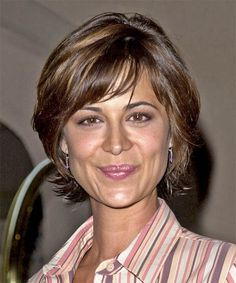Catherine Bell Hairstyle - Short Straight Casual - Medium Brunette