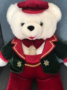 "Dan Dee 1998 Snowflake Plush Teddy Bear Christmas 21"" Toy Soldier  | eBay"