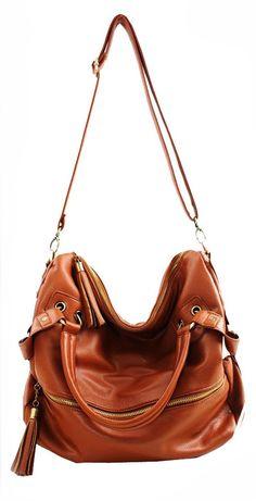 Tassel Leather Handbag Cross Body Shoulder Bag &Handbag