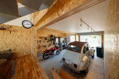 Man Cave Garage, Garage House, Car Garage, Garage Workshop, Home Remodeling, Architecture Design, Interior, Camper, Space