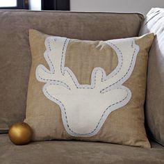 Antler Pillow Cover   west elm
