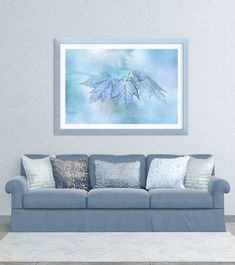 """Snowy Baby Leaves framed print by Anita Pollak.   Bring your print to life with hundreds of different frame and mat combinations. Our framed prints are assembled, packaged, and shipped by our expert framing staff and delivered """"ready to hang"""" with pre-attached hanging wire, mounting hooks, and nails.  Ships Within 2 - 3 business days."""
