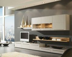 Wall storage with desk wall storage unit modern with low sideboard cabinets and shelves units desk . wall storage with desk Desk Wall Unit, Living Room Wall Units, Living Room Storage, Living Rooms, Kitchen Living, Entertainment Center Kitchen, Entertainment Room, Wall Storage Systems, Storage Units