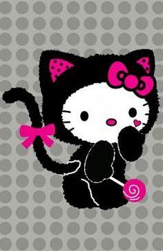 hello kitty image by Diana Lee Doub. Hello Kitty Tattoos, Hello Kitty Art, Hello Kitty Bedroom, Hello Hello, Kitty Kitty, Hello Kitty Backgrounds, Hello Kitty Wallpaper, Little Twin Stars, Kawaii