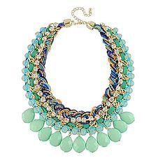 collar de gargantilla de acrílico multicolor de moda de estilo bohemio