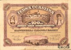 Muzeum cennych papiru  A2319 Slovenská ľudová banka 1928